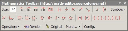 Mathematics Toolbar