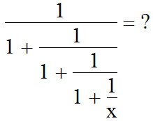 A complicated fraction